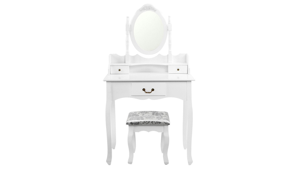 Artiss 3 drawer dressing table with mirror   web2