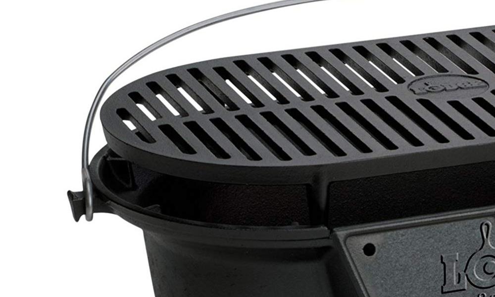 Lodge pre seasoned cast iron grill w coal door   web2