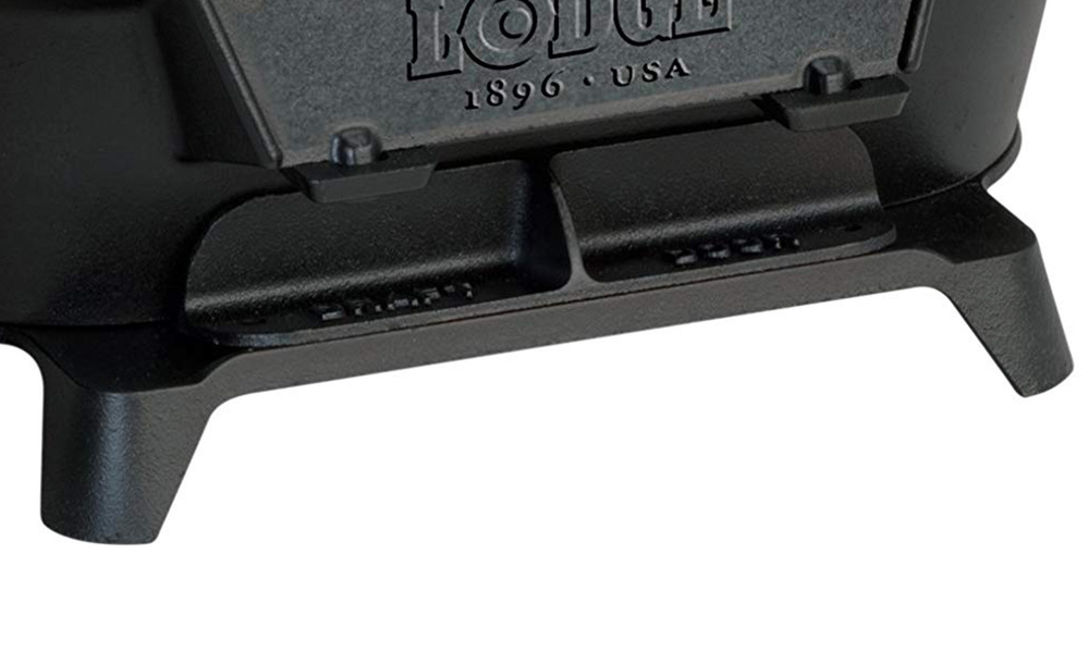 Lodge pre seasoned cast iron grill w coal door   web3