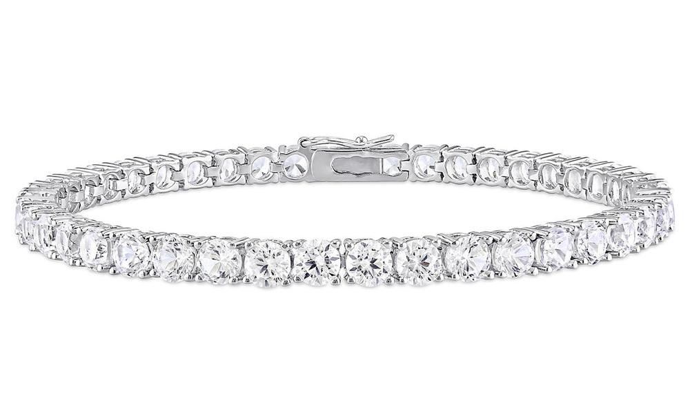 White sapphire tennis bracelet   web1