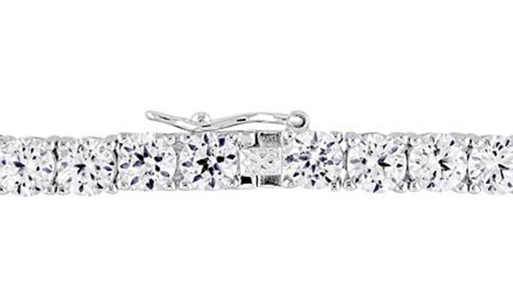 White sapphire tennis bracelet   web3