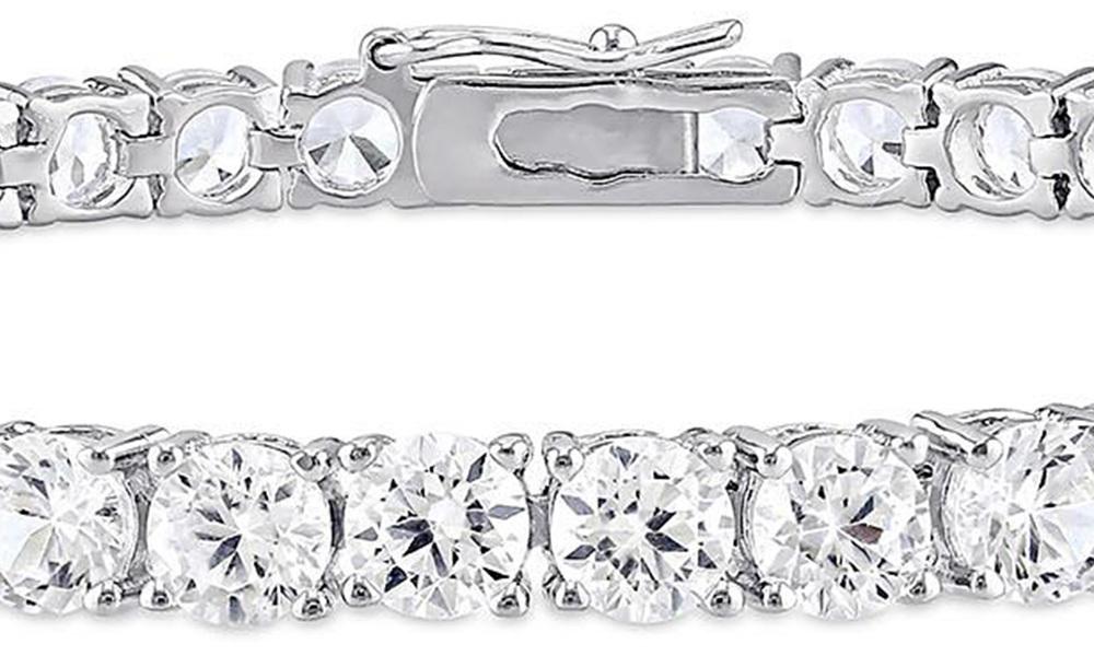 White sapphire tennis bracelet   web4