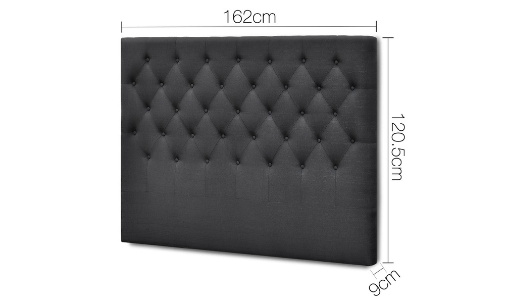 Charcoal   artiss upholstered fabric headboard   web2