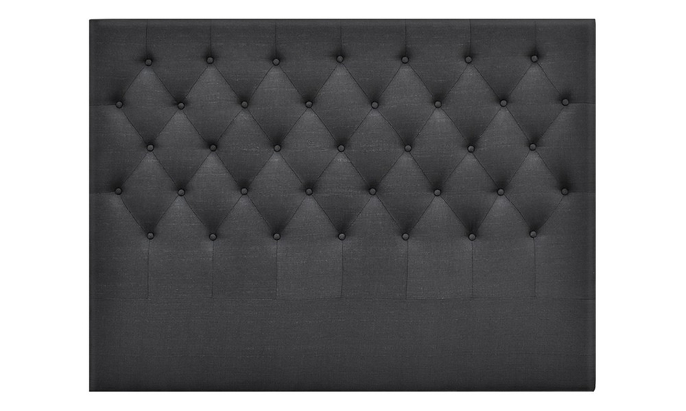 Charcoal   artiss upholstered fabric headboard   web3