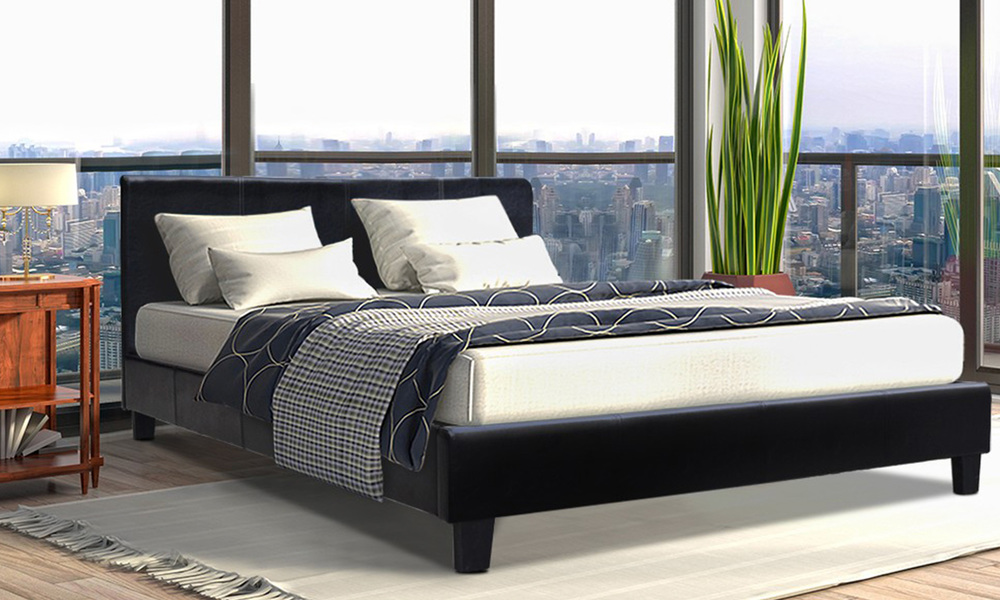 Artiss pu leather bed frame and headboard   web1
