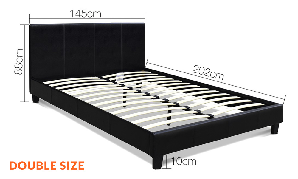 Double   artiss pu leather bed frame and headboard   web1