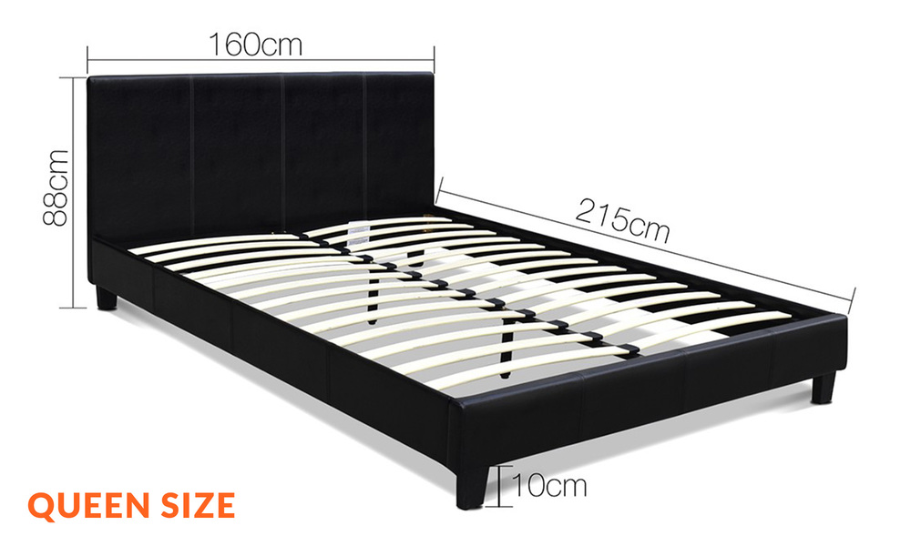 Queen   artiss pu leather bed frame and headboard   web1