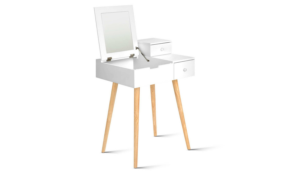 Artiss dressing table with foldaway mirror   web1