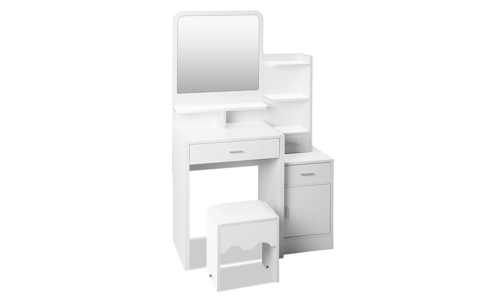 Artiss dressing table with stool and drawers   web1