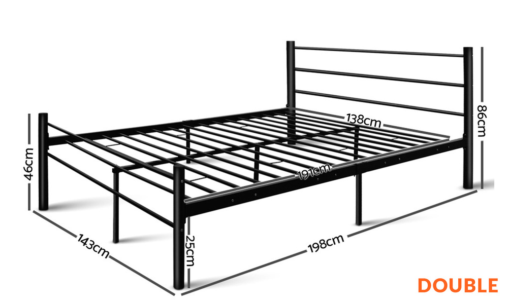 Double   artiss metal bed frame   web1