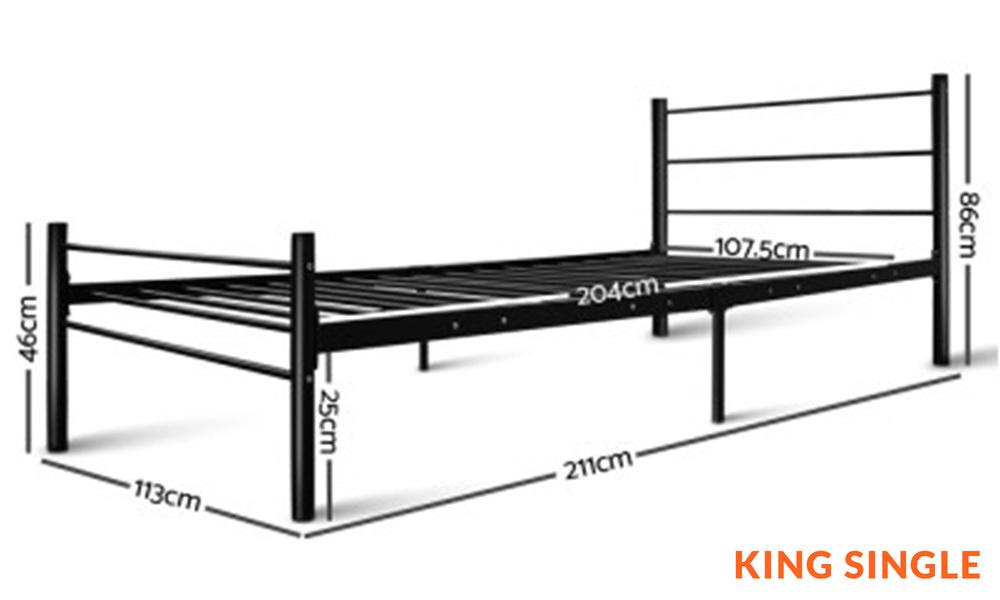 King single   artiss metal bed frame   web1