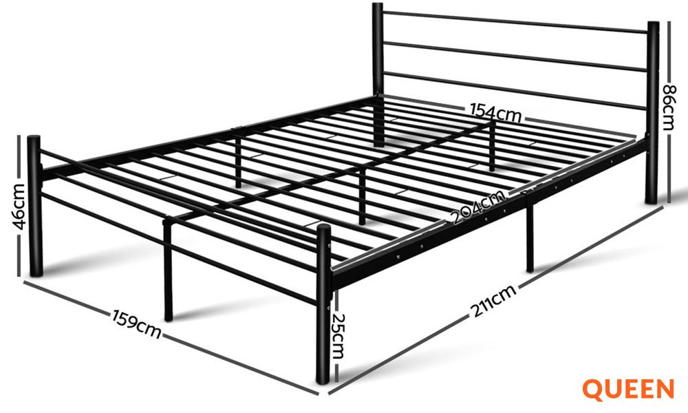 Queen   artiss metal bed frame   web1