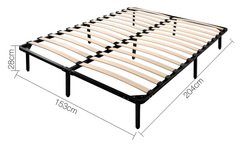 Queen   artiss metal bed base   web1
