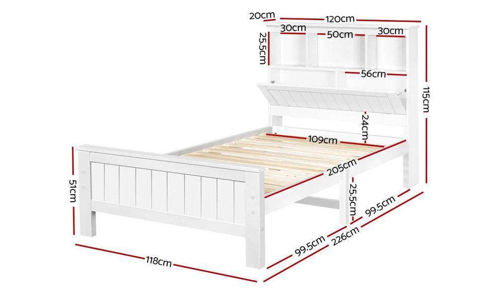 Artiss wooden timber bed frame   web2