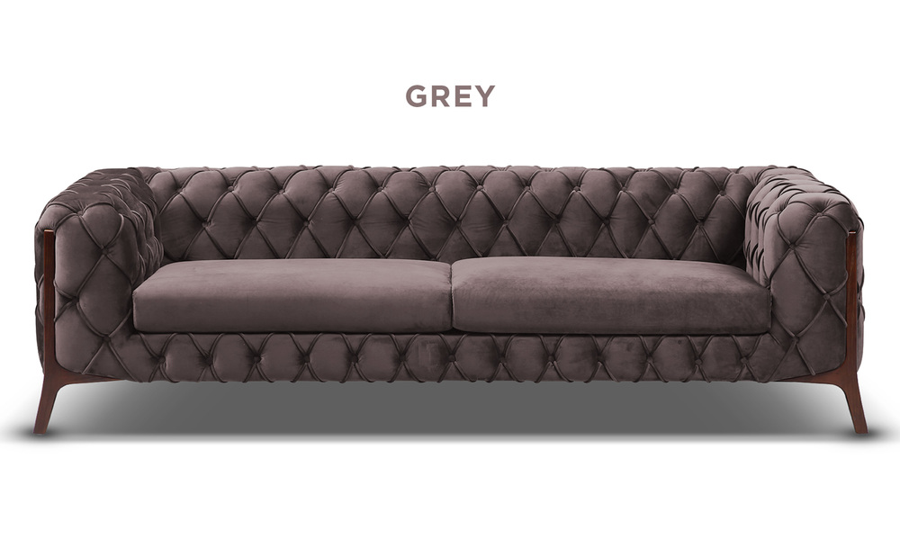 Grey   diablo velvet button 3 seater sofa   web1