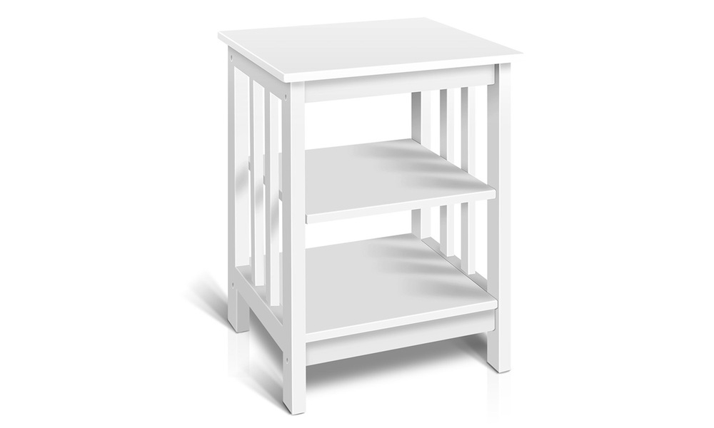 Artiss bedside table with 3 tier shelf   web1