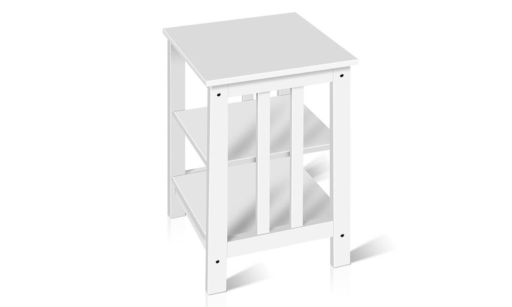 Artiss bedside table with 3 tier shelf   web3