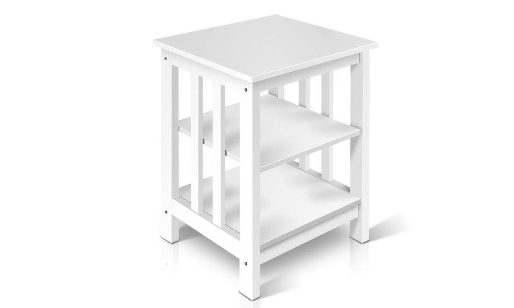 Artiss bedside table with 3 tier shelf   web5