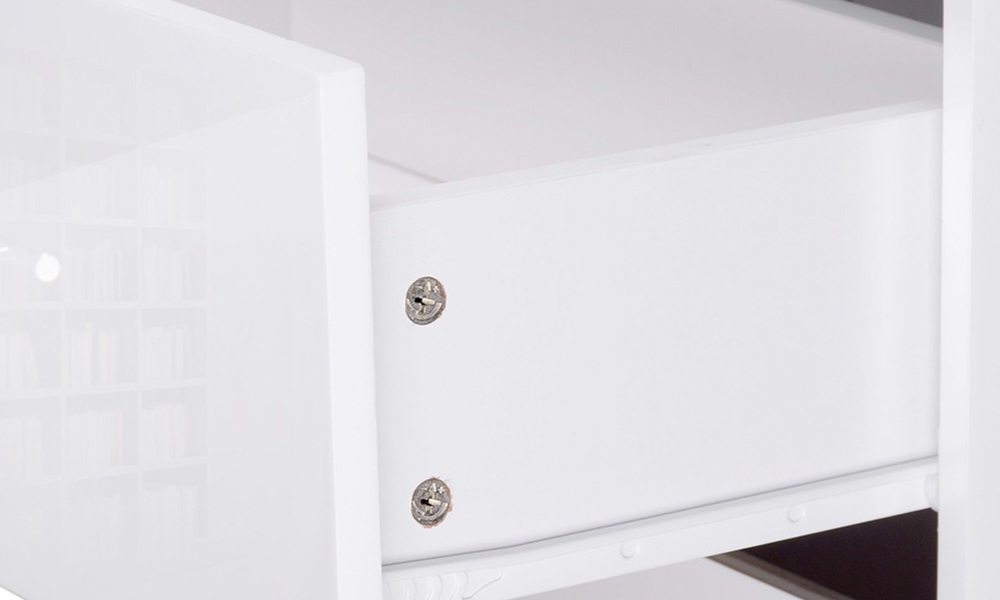Artiss high gloss two drawers bedside table   web6