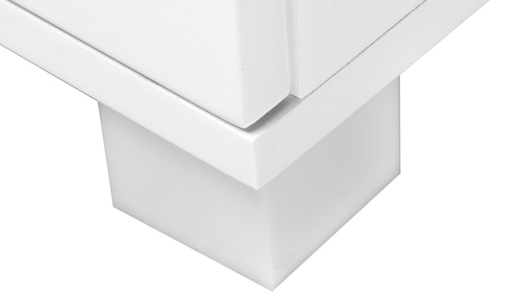 Artiss high gloss two drawers bedside table   web7