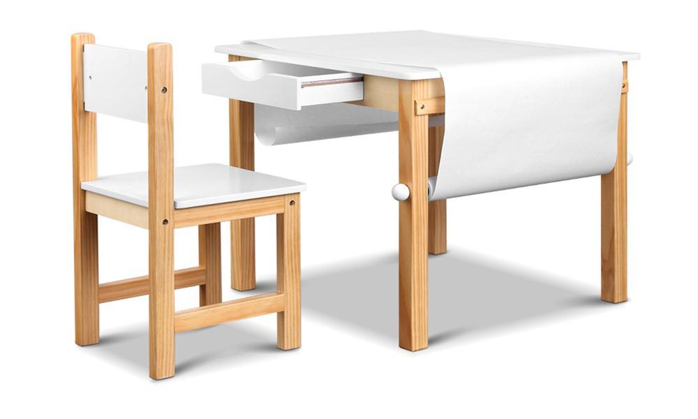 Artiss kids art table and chair set   web1