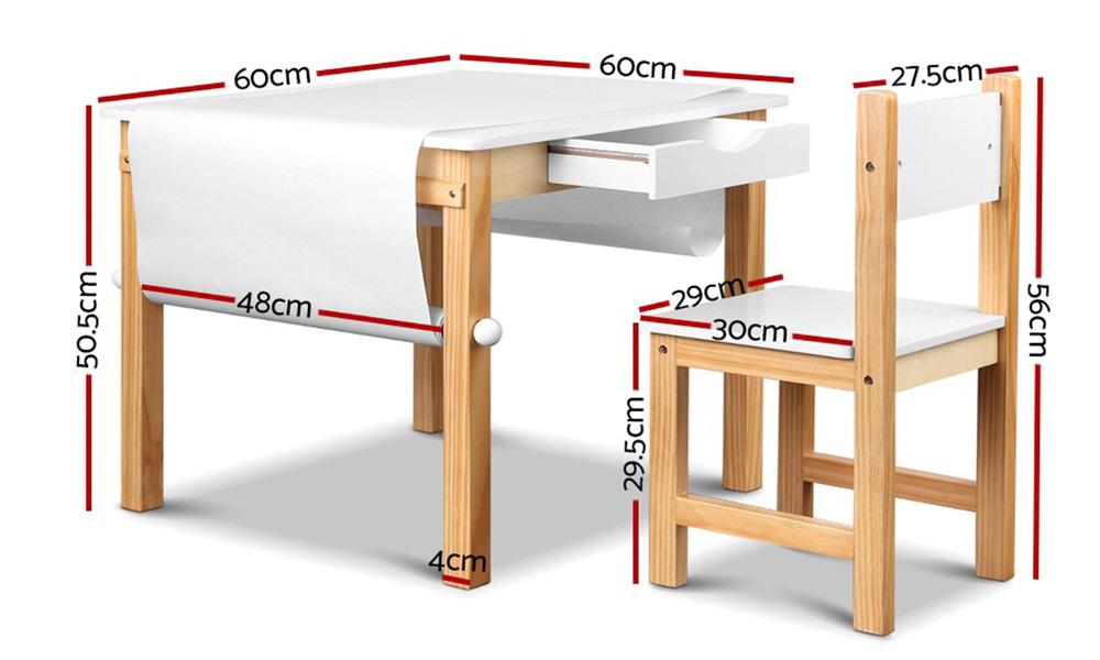 Artiss kids art table and chair set   web2