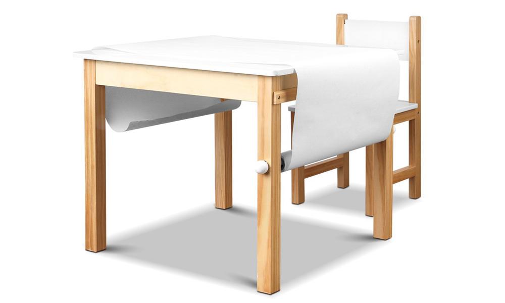 Artiss kids art table and chair set   web4