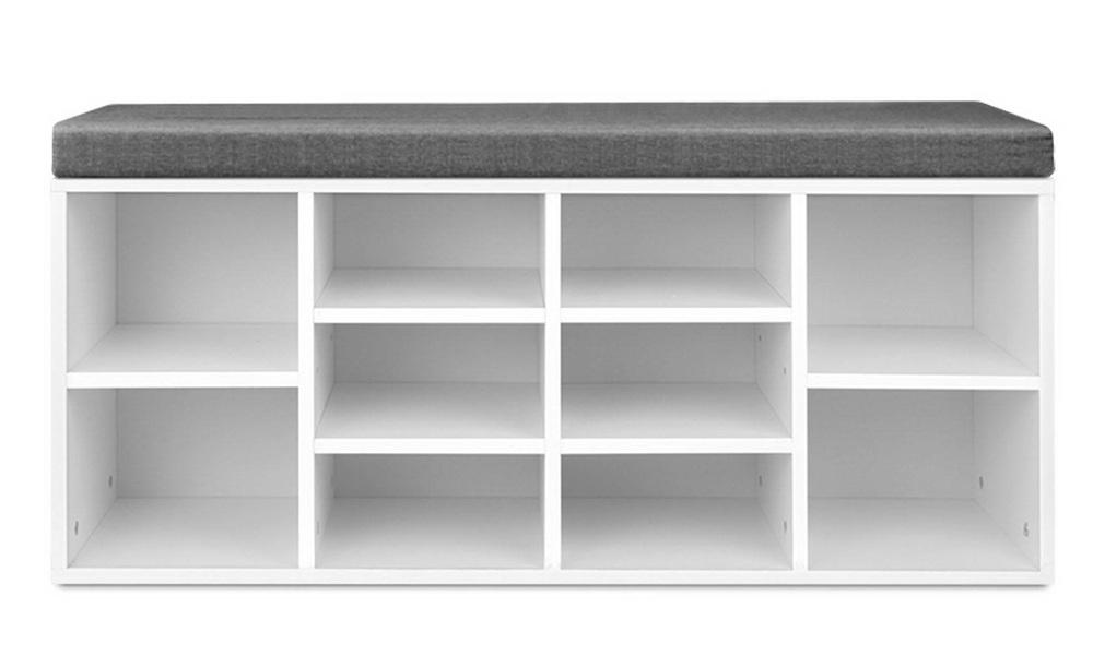 Artiss fabric shoe bench with storage   web3