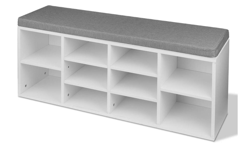 Artiss fabric shoe bench with storage   web4