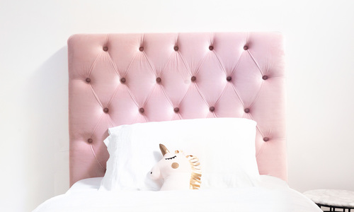 Dusky pink   kingston velvet tufted headboard   web1