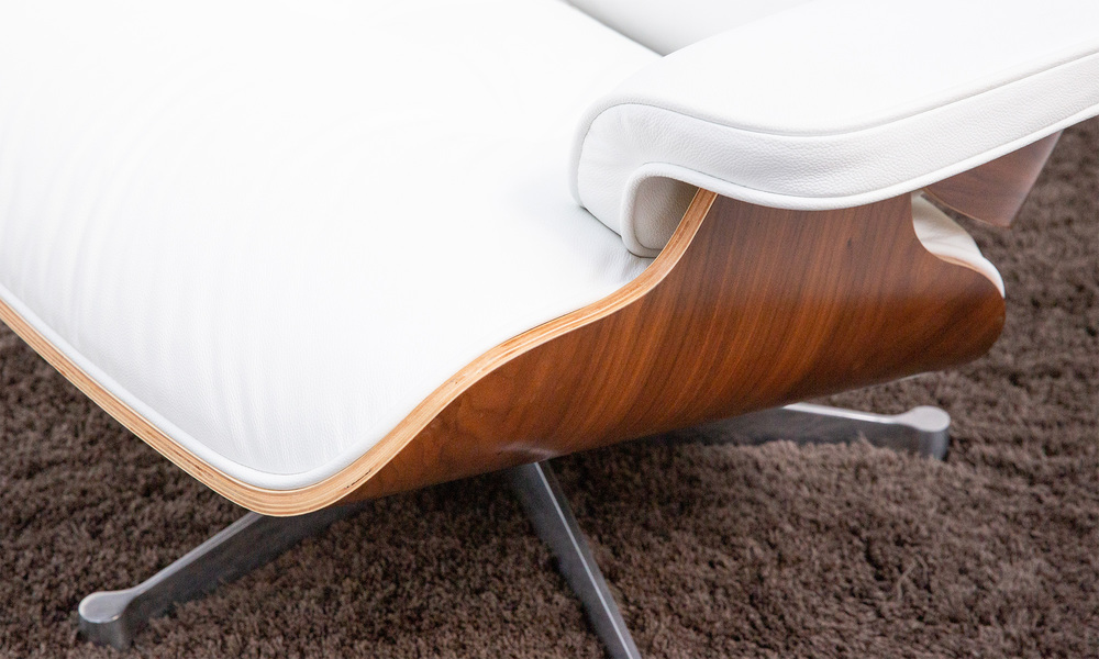 White   replica eames lounge chair   ottoman   web3