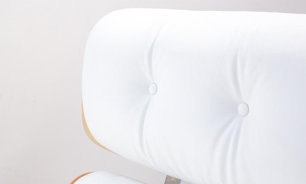 White   replica eames lounge chair   ottoman   web4