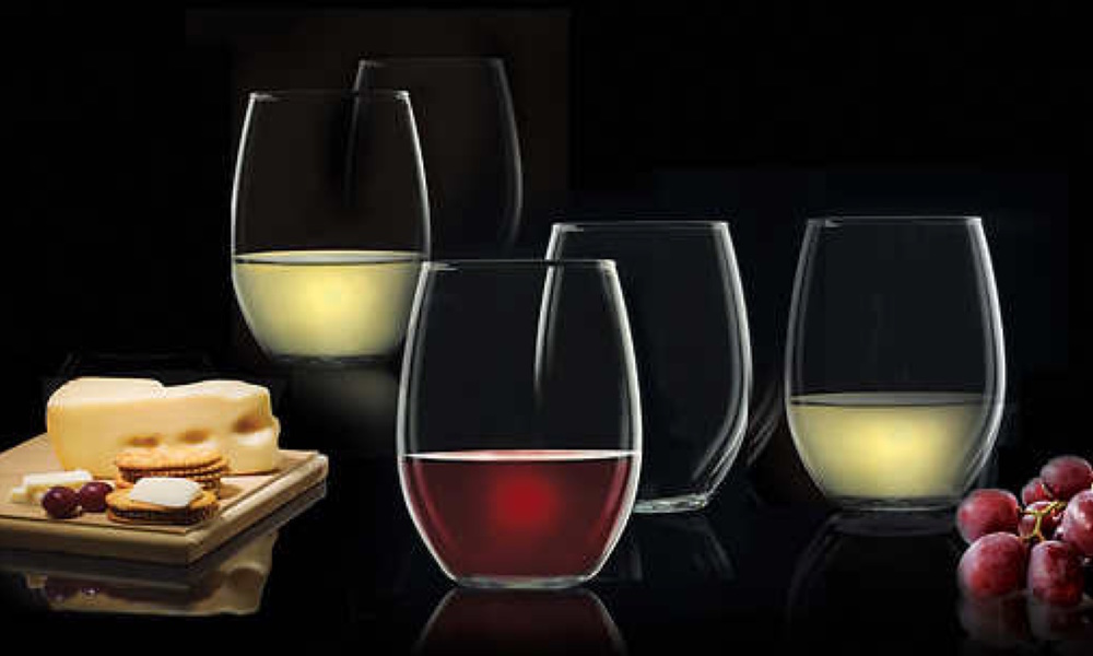 container door luminarc 12 pack stemless wine glasses 2. Black Bedroom Furniture Sets. Home Design Ideas