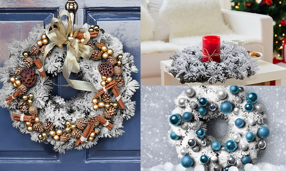 Jingle jollys 60cm christmas snow wreath   web2