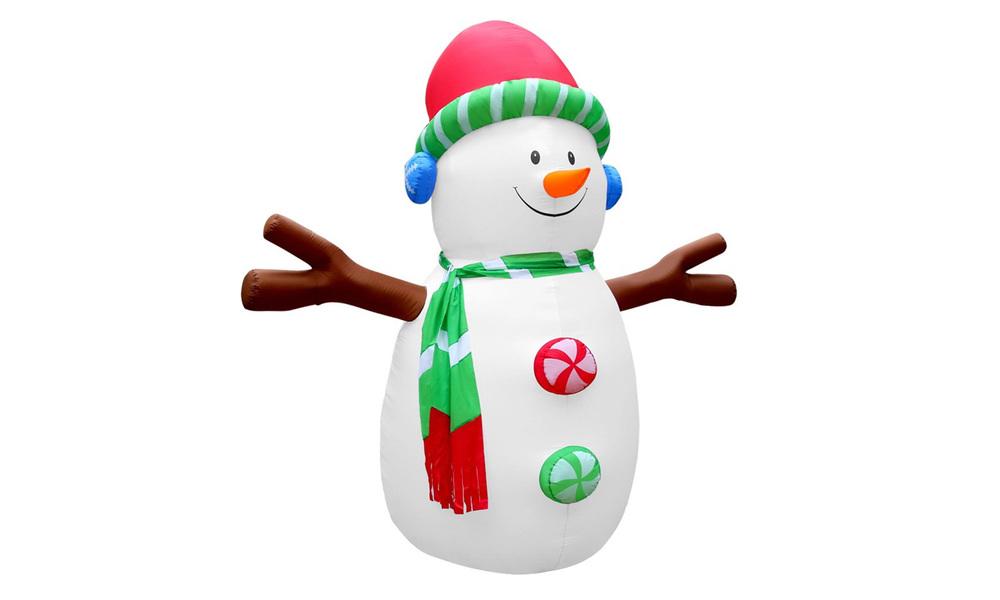 Jingle jollys inflatable christmas snowman lights led xmas decoration outdoor 3m   web1