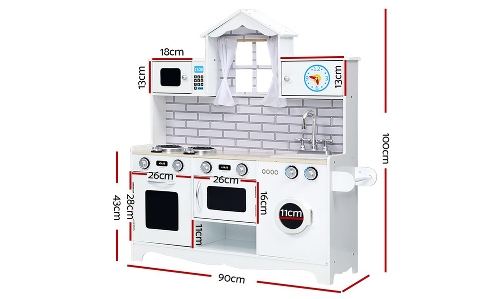 White   keezi kids kitchen play set   web2