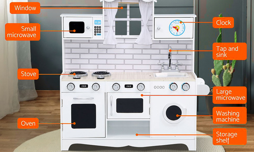 White   keezi kids kitchen play set   web4
