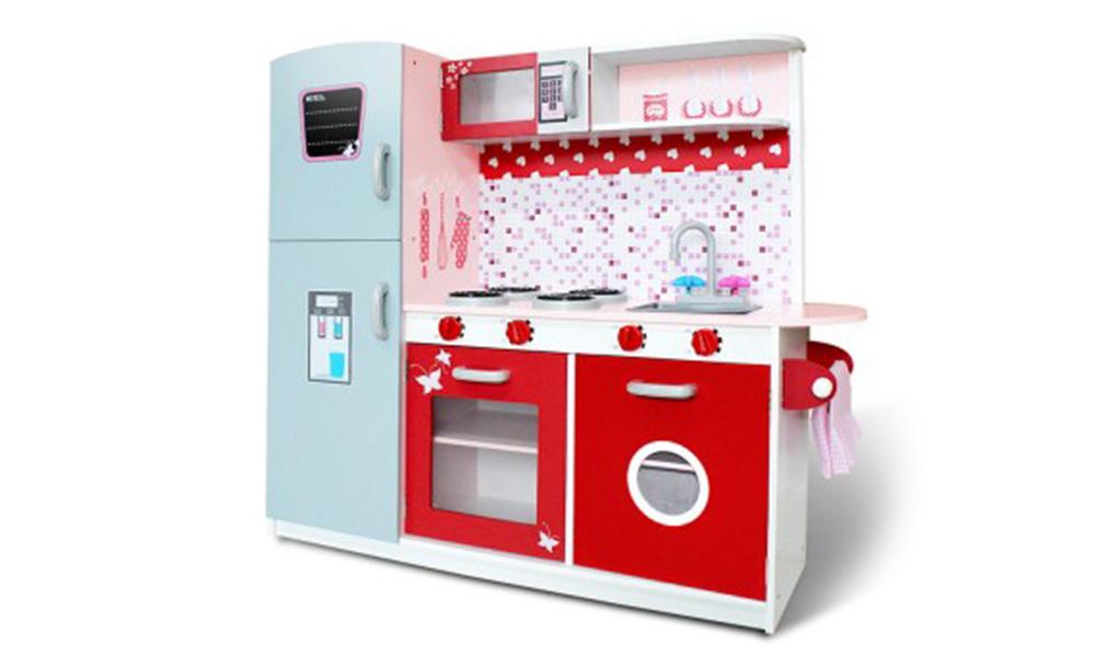 Pink red   keezi kids kitchen play set   web1