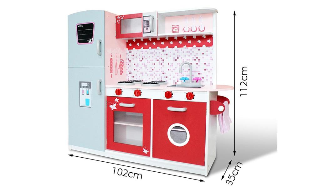 Pink red   keezi kids kitchen play set   web2