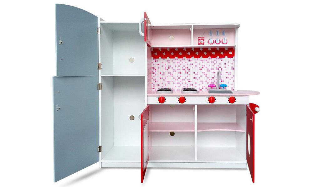 Pink red   keezi kids kitchen play set   web3