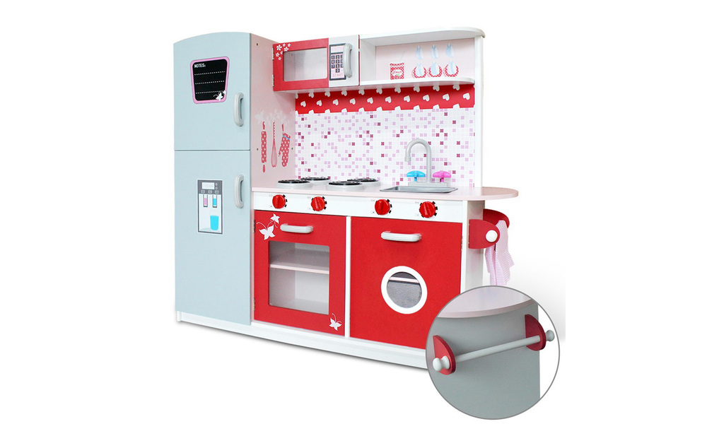 Pink red   keezi kids kitchen play set   web4