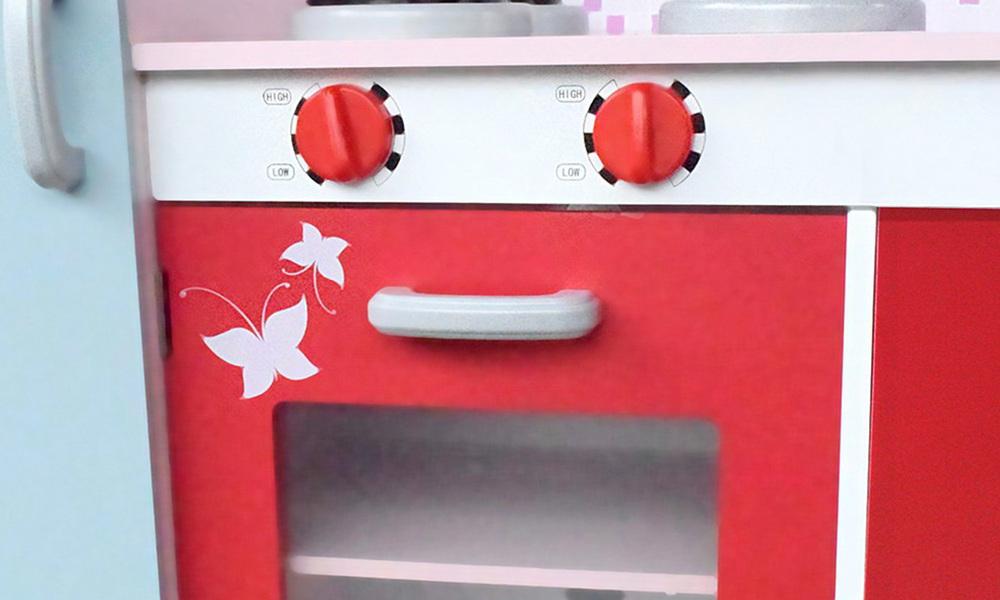 Pink red   keezi kids kitchen play set   web5