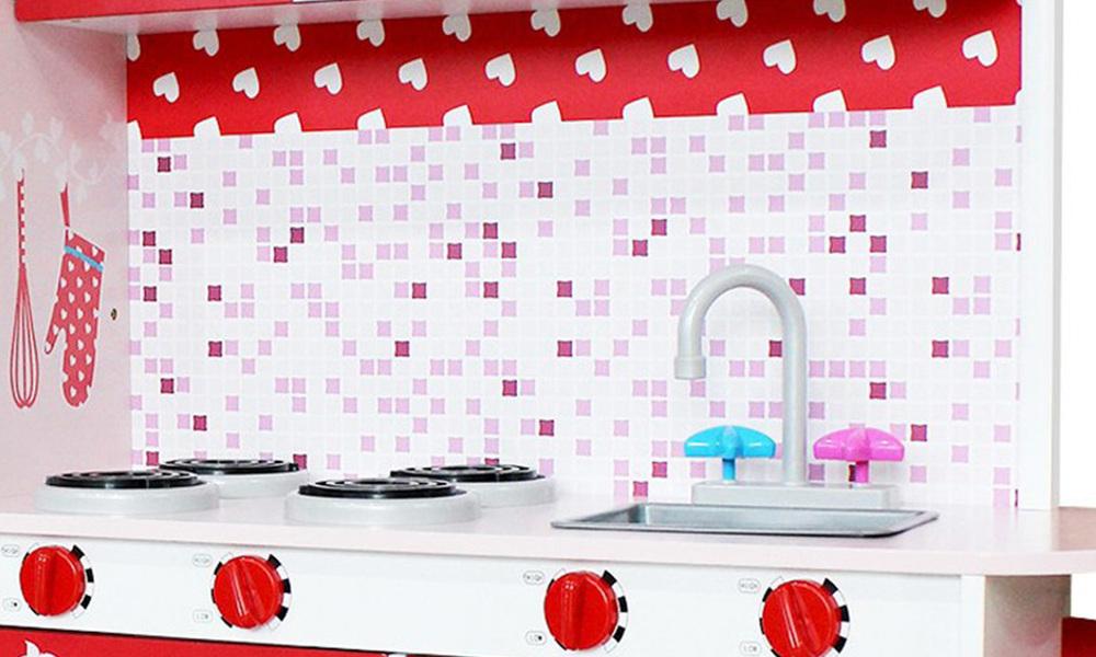 Pink red   keezi kids kitchen play set   web8