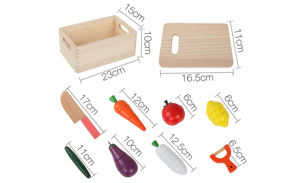 Keezi 29 piece kids food play set   web4