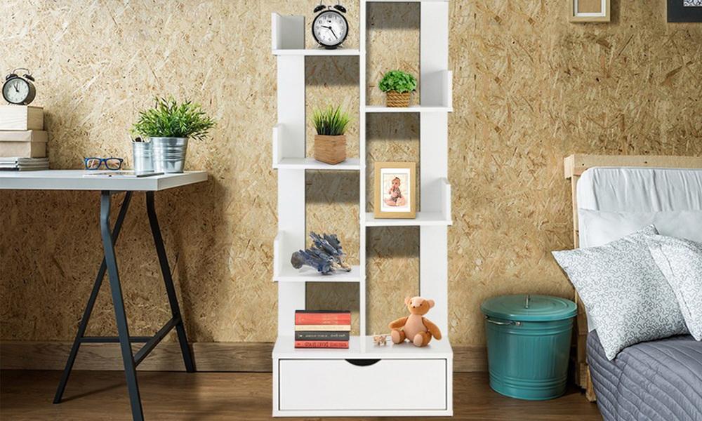 Artiss wooden tree storage shelf   web3