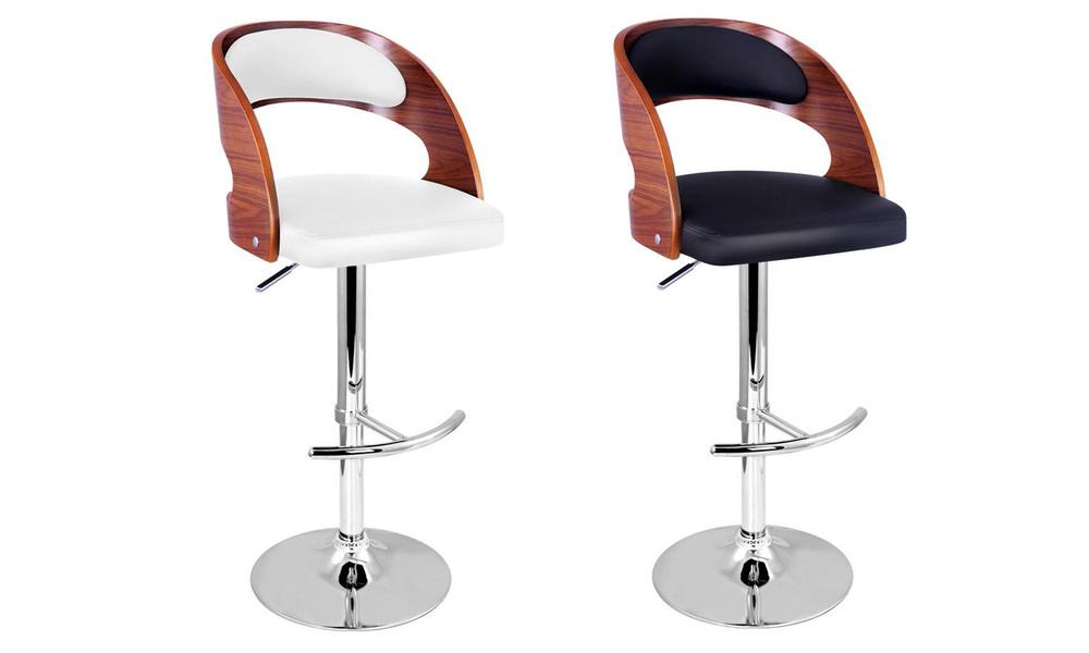 Artiss wooden gas lift bar stool   web1