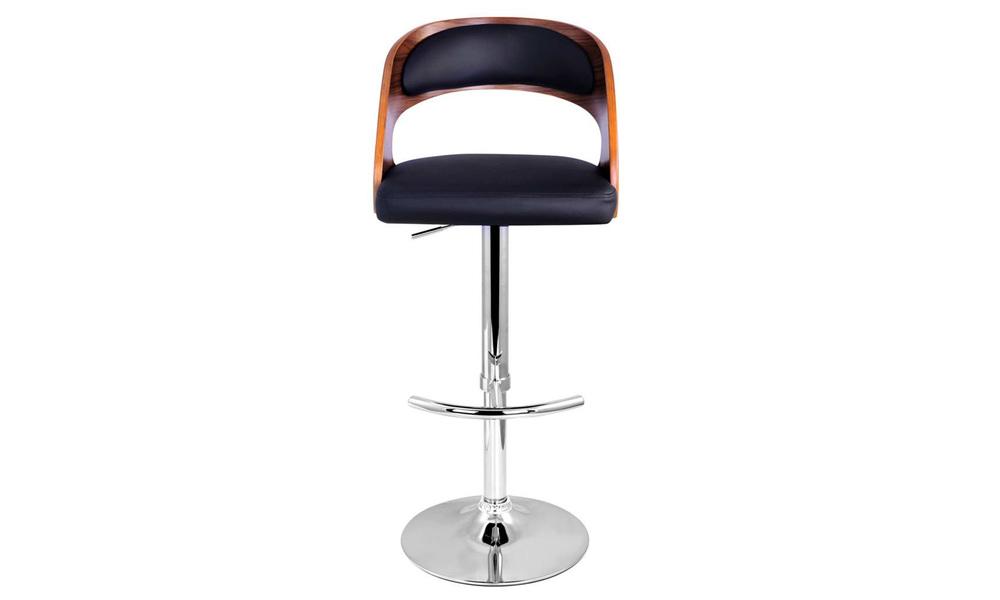 Black   artiss wooden gas lift bar stool   web4