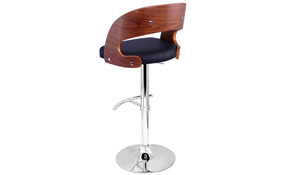 Black   artiss wooden gas lift bar stool   web5