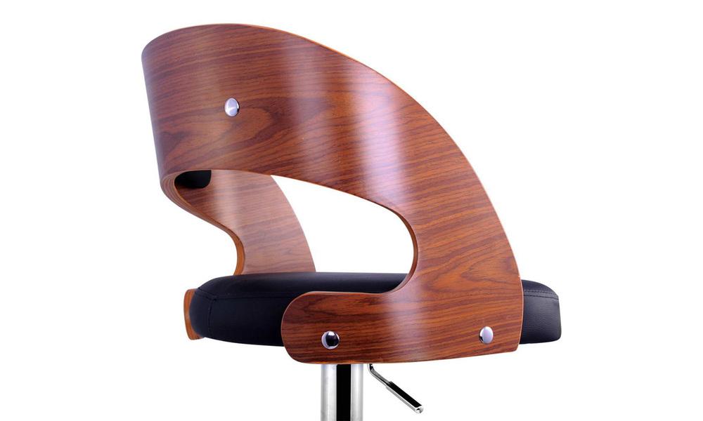 Black   artiss wooden gas lift bar stool   web7