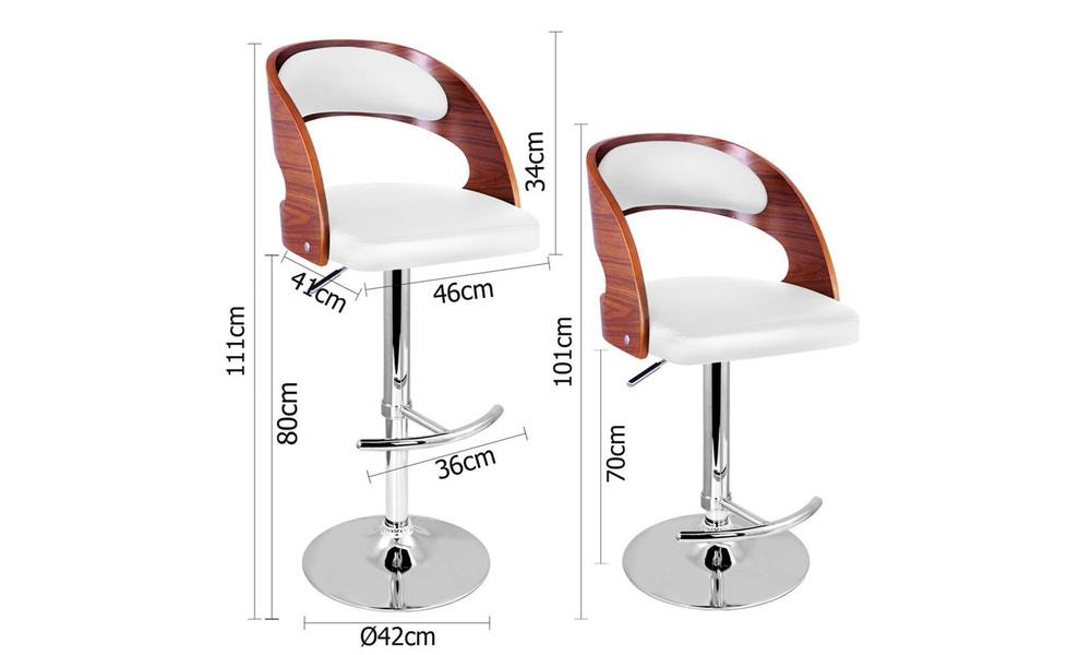 White   artiss wooden gas lift bar stool   web2